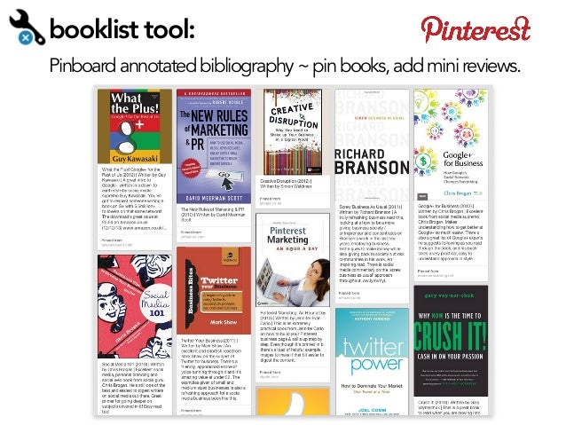 booklist tool: Pinboard annotated bibliography ~ pin books, add mini reviews.