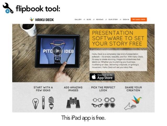 flipbook tool:  This iPad app is free.