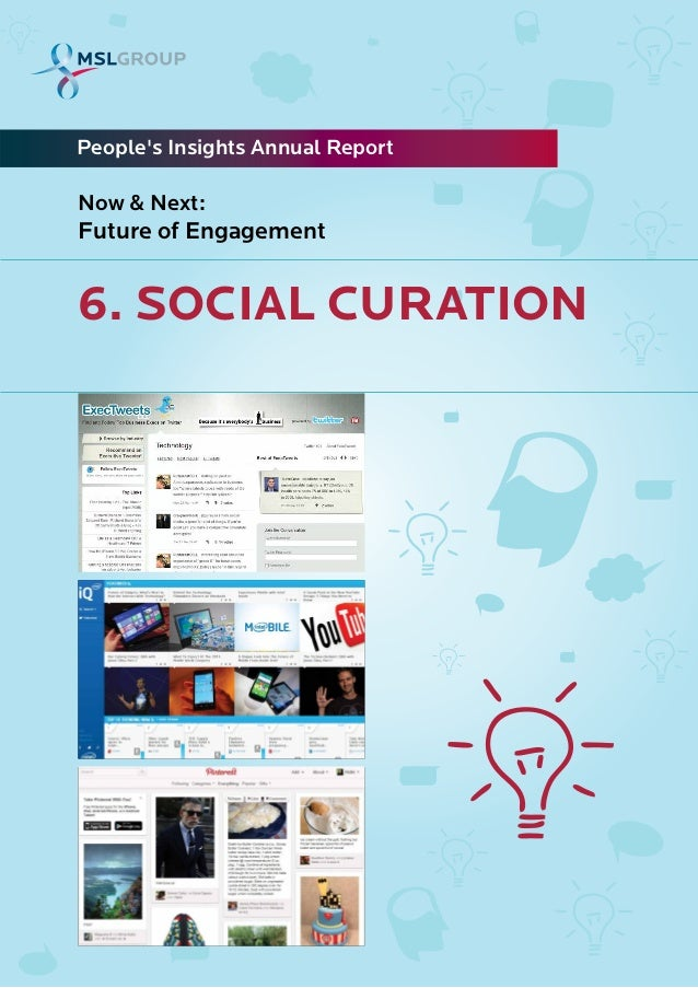 6. SOCIAL CURATIONPeoples Insights Annual ReportNow & Next:Future of Engagement