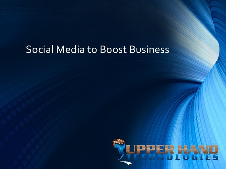 Social Media to Boost Business