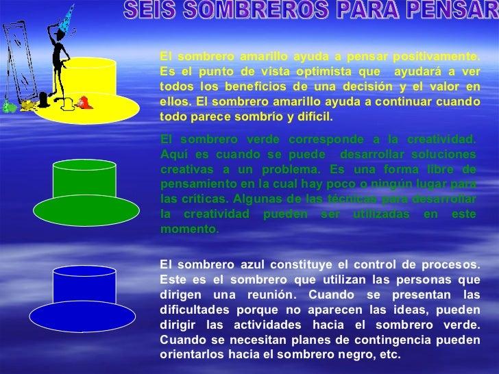 ... SOMBRERO REPRESENTA UNA MANERA DE PENSAR  5. 7420b13709c