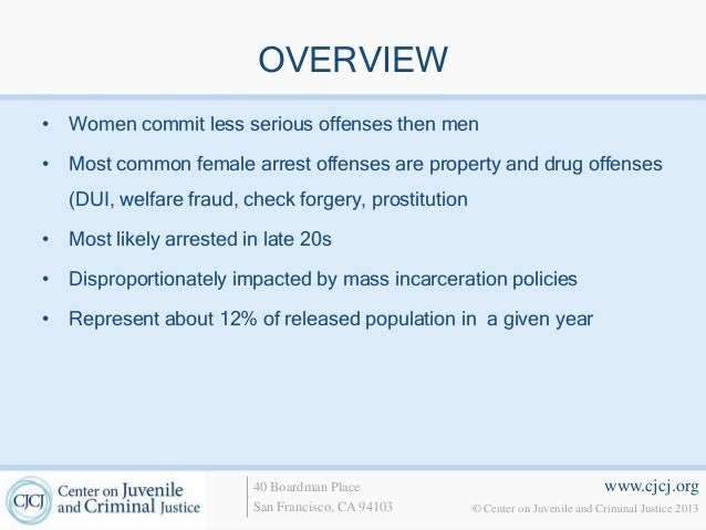What is the typical female offender — photo 2