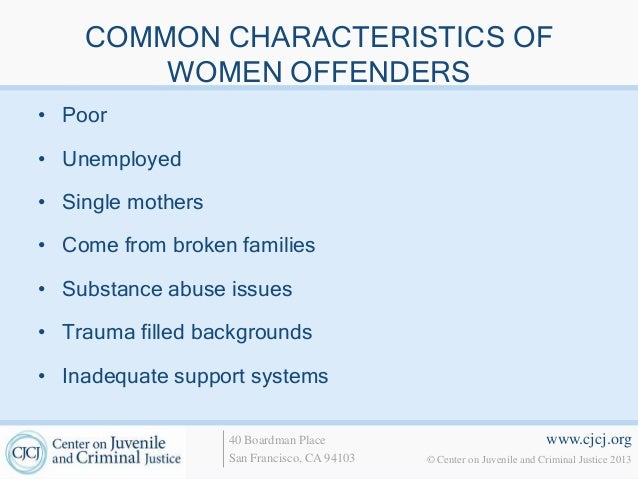Male and female juvenile offenders