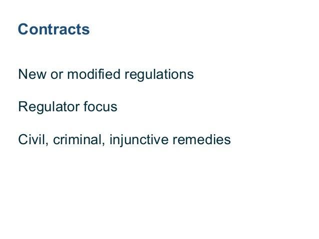 Litigation ! Lawsuit based on conduct ! Civil penalties ! Equitable relief