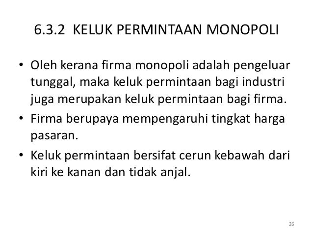 6 Struktur Pasaran Pps Monopoli
