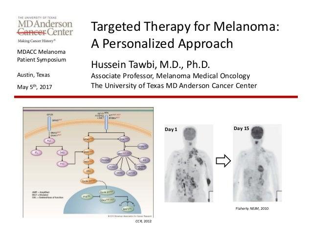 MDACCMelanoma PatientSymposium Austin,Texas May5th,2017 TargetedTherapyforMelanoma: APersonalizedApproach Husse...
