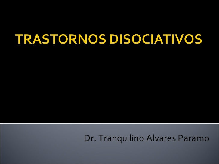 Dr. Tranquilino Alvares Paramo