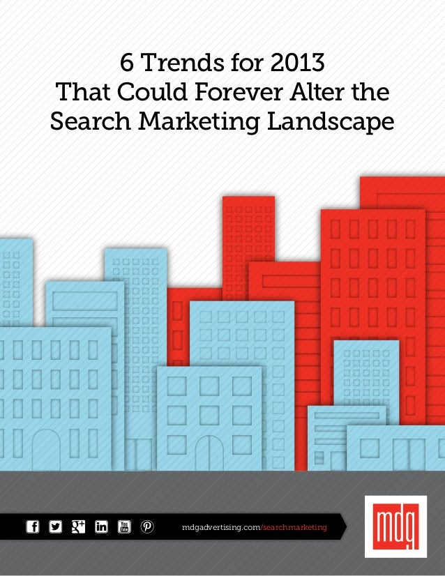 6 Trends for 2013That Could Forever Alter theSearch Marketing Landscape          mdgadvertising.com/searchmarketing