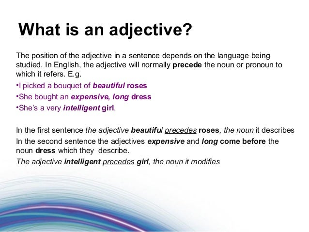 what is adjective in english grammar pdf