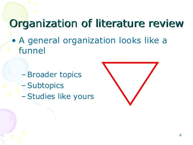 approaches writing literature review