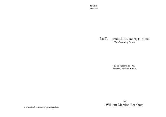 Spanish                                    60-0229                                              La Tempestad que se Aproxi...