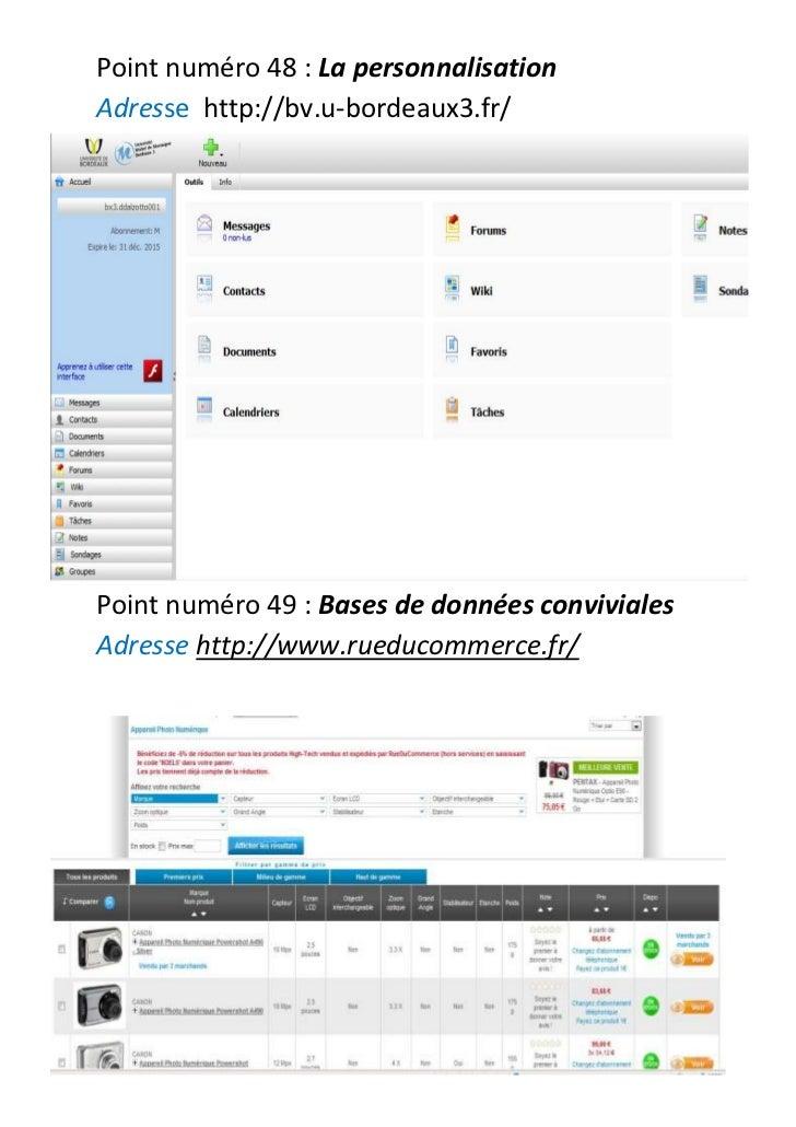 Point numéro48: La personnalisation<br />Adresse    http://bv.u-bordeaux3.fr/<br />1905019816<br />Point numéro49: Bas...