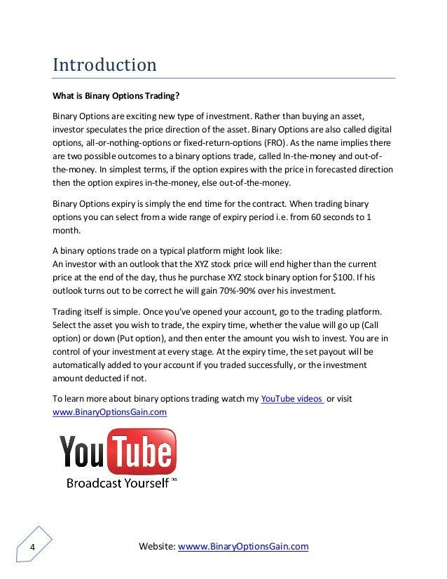 Binary options daily youtube