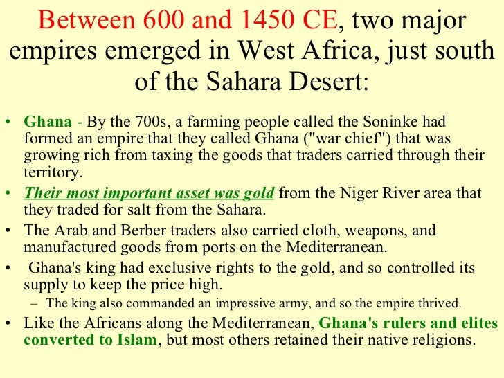 1000 ce 1750 ce impact of islam on south africa Spread of islam in west africa islam reached the savannah region in the 8th century ce, the date the written history of west africa begins the muslim-arab historians began to write about west africa in the early 8th century.