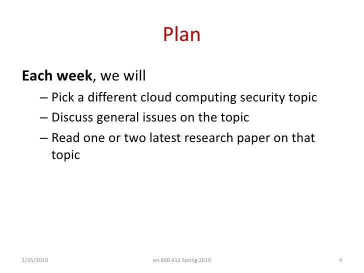 Latest research papers in cloud computing