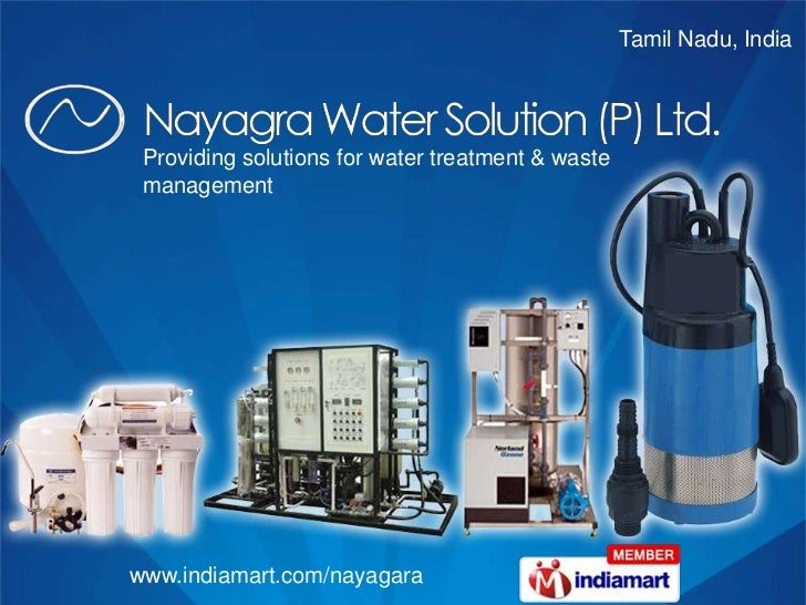 Tamil Nadu, India <br />Providing solutions for water treatment & waste management<br />