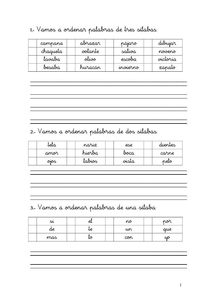 Resultado de imagen de fichas para ordenar alfabeticamente