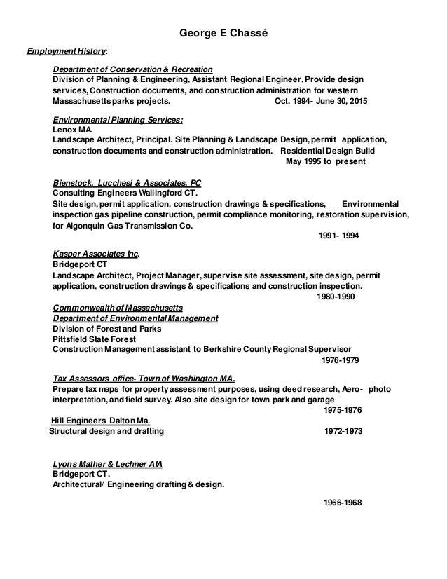 20170206 resume-George E Chassé