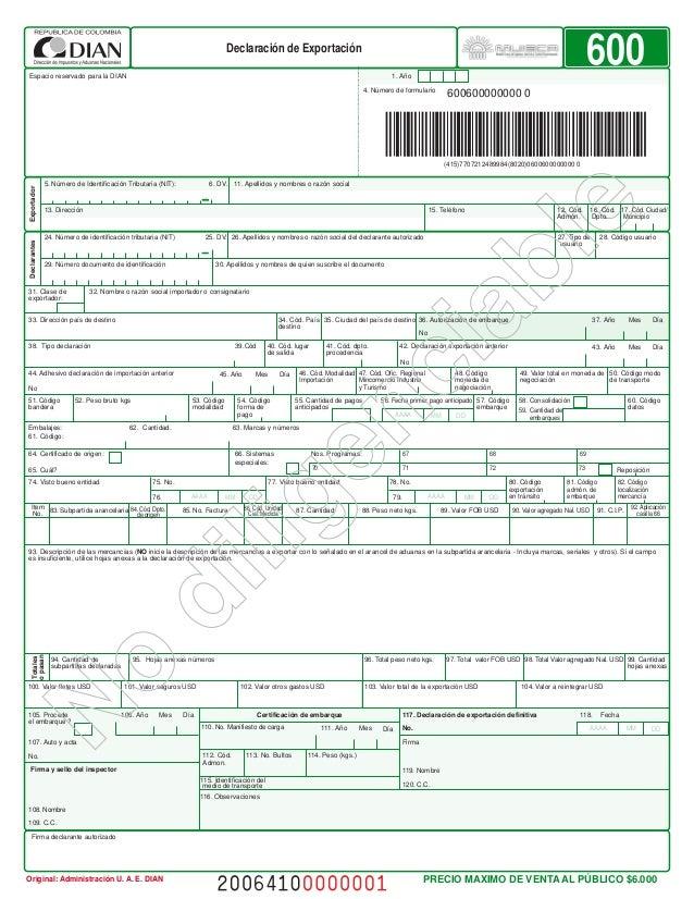 Formulario De Exportaci 211 N