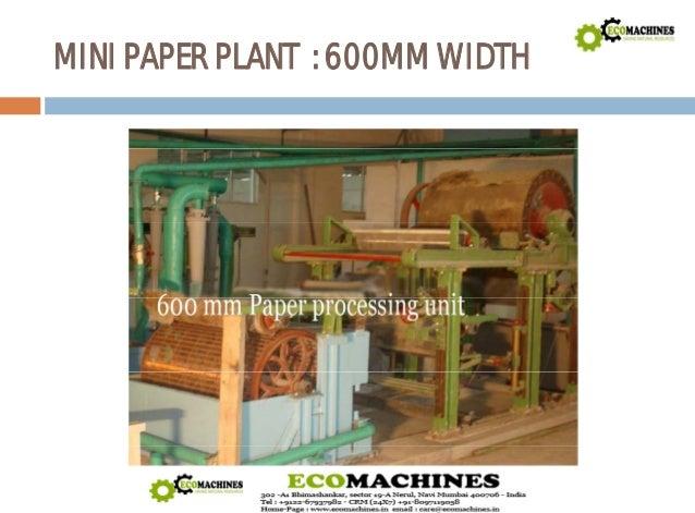 Mini Paper Mill