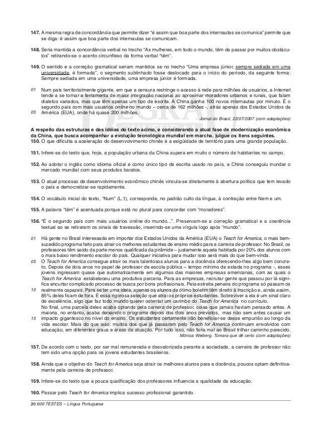 600 Testes Lingua Portuguesa