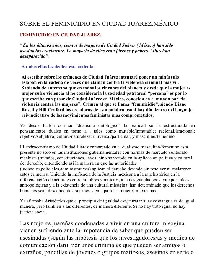 PARA LA REVISTA CIUDAD JUAREZ