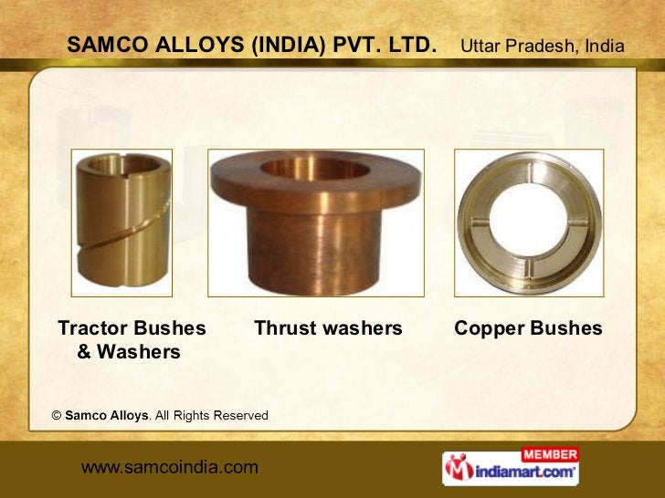 Tractor Bushes & Washers  Thrust washers  Copper Bushes
