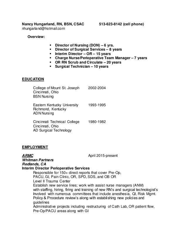 resume update may 2015