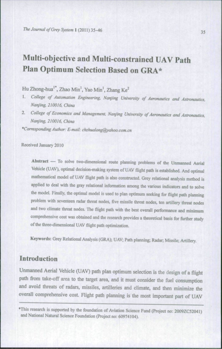The Journal of Grey System 1 (2011 ) 35-46                                                         35  Multi-objective and...