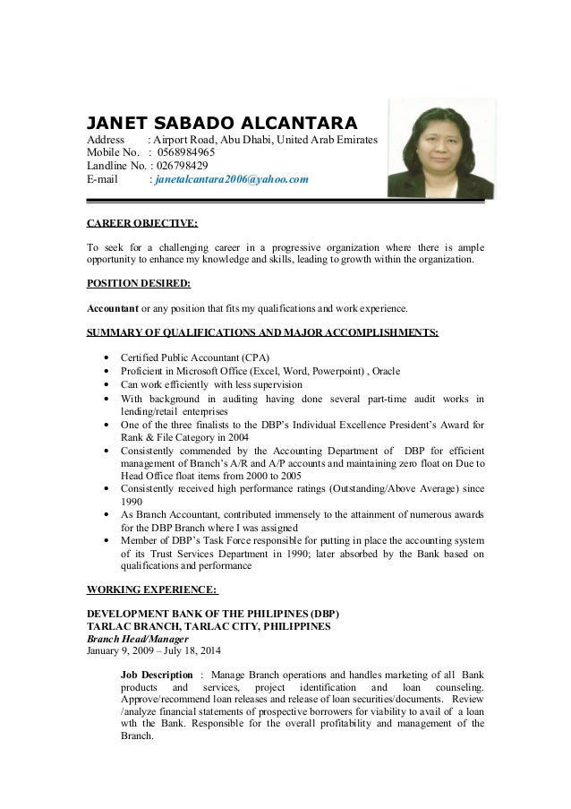 detailed resume final