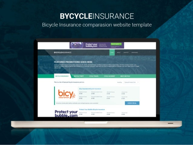 bicycle insurance comparison website template