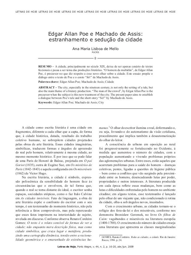 16 Mello, A.M.L. Letras de Hoje, Porto Alegre, v. 44, n. 2, p. 16-20, abr./jun. 2009 LETRAS DE HOJE LETRAS DE HOJE LETRAS...