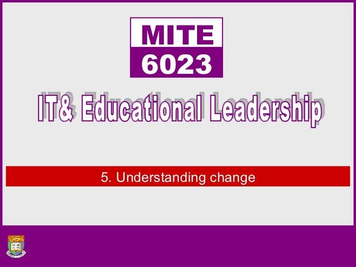 5. Understanding change