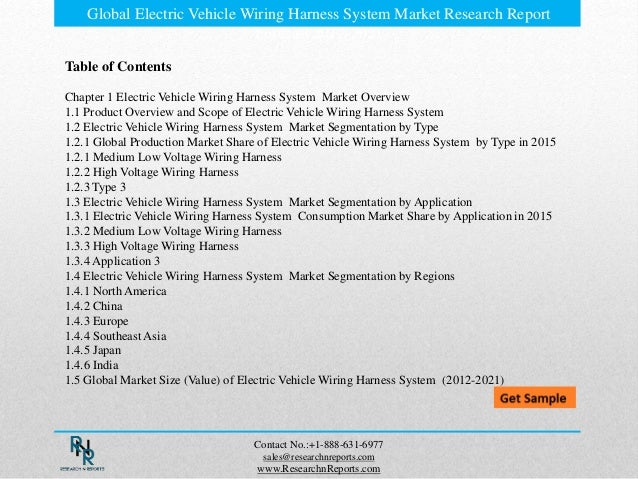 global electric vehicle wiring harness system market research report forecast 20172021 3 638?cb=1491433623 global electric vehicle wiring harness system market research report electric vehicle wiring harness at bayanpartner.co
