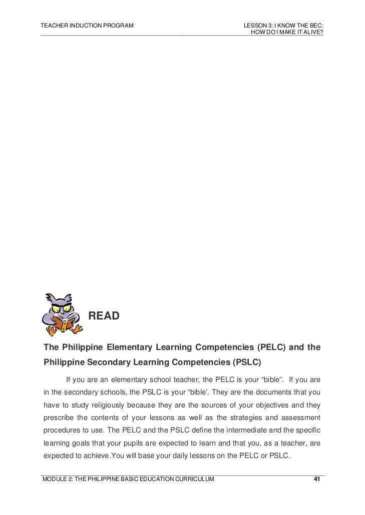 philippine bec The weak conceptualization of the learning reform in the context of philippine   the bec document further articulates the need to empower filipino learners for.