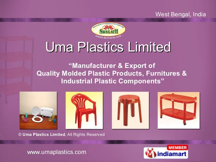 "Uma Plastics Limited "" Manufacturer & Export of  Quality Molded Plastic Products, Furnitures &  Industrial Plastic Compone..."