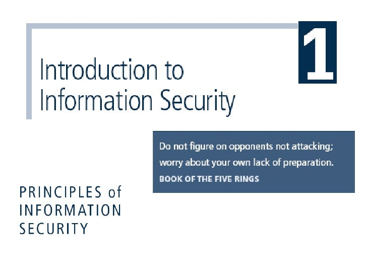 Learning Objectives Upon completion of this material, you should be able to:      Define information security      Relat...