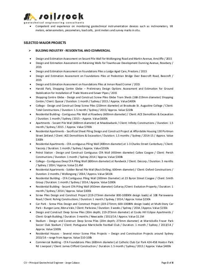 resume principal consultant soilsrock