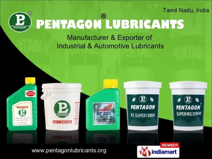 Tamil Nadu, India  Manufacturer & Exporter of  Industrial & Automotive Lubricants
