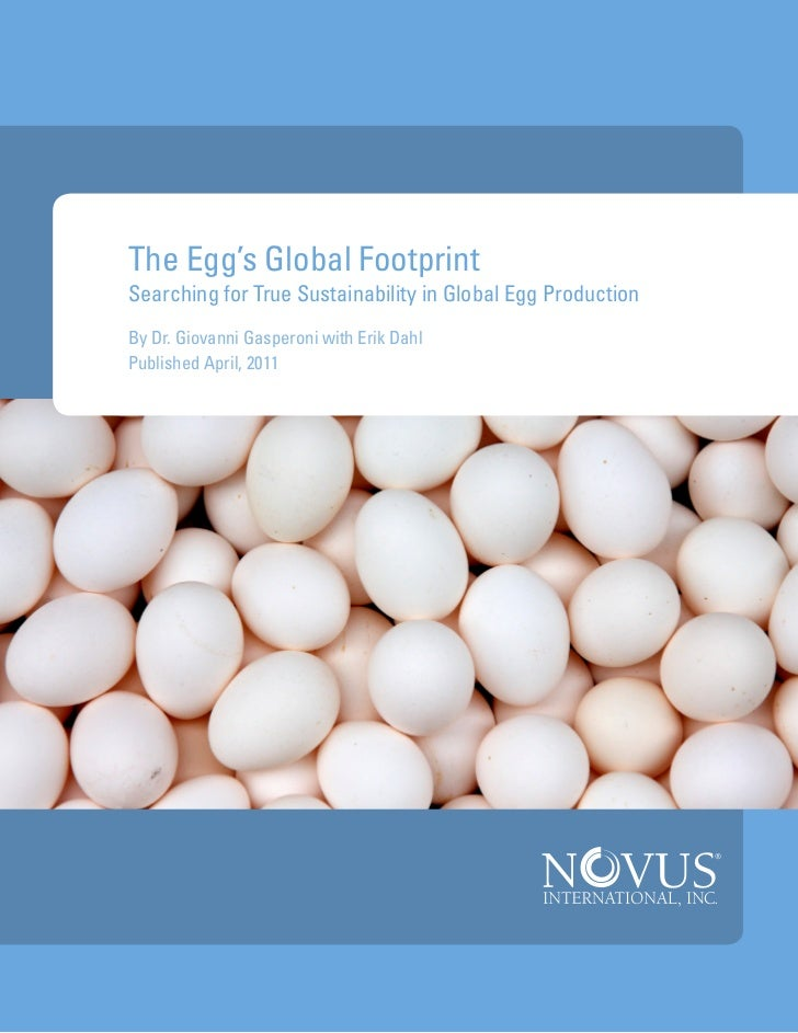 The Egg's Global FootprintSearching for True Sustainability in Global Egg ProductionBy Dr. Giovanni Gasperoni with Erik Da...