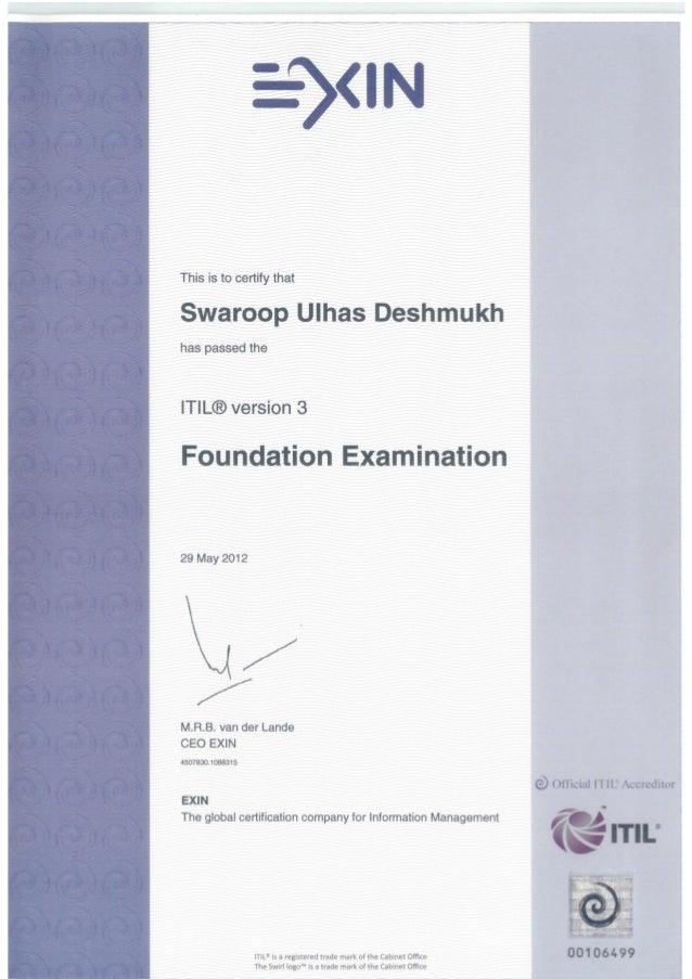 ITIL Certificates