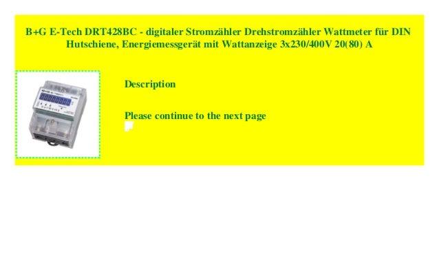 LCD digitaler Stromzähler für DIN Hutschiene 80A direktmessend Drehstromzähler