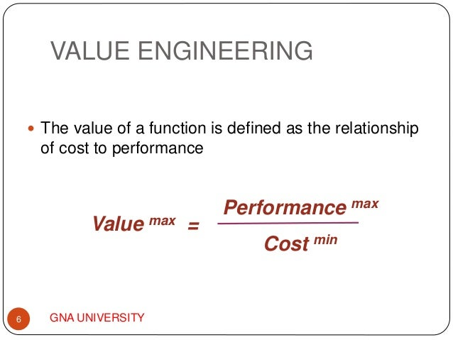 Value engineering analysis ppt for Value engineered