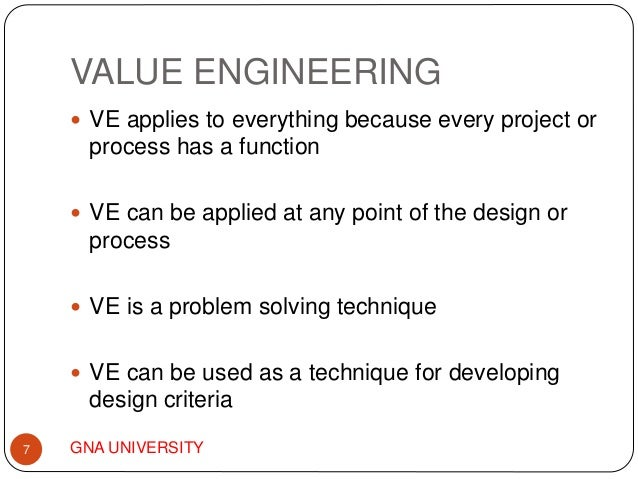 define value engineering analysis Value engineering in business english value engineering noun [ u ] uk  us  also value analysis [ c or u ] production, economics  the process of reducing the cost of producing a product without reducing its quality or how effective it is: substantial value engineering had to be done to control costs ( definition.