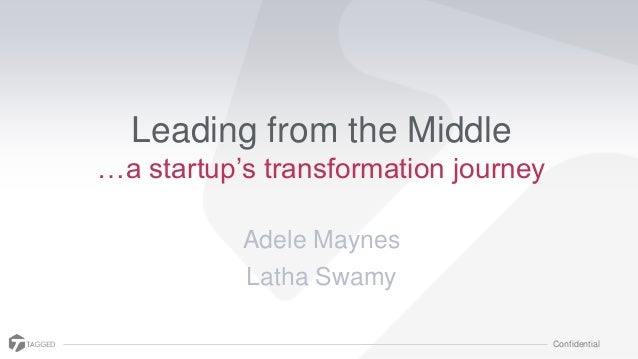 """Confidential Leading from the Middle …a startup""""s transformation journey Adele Maynes Latha Swamy"""