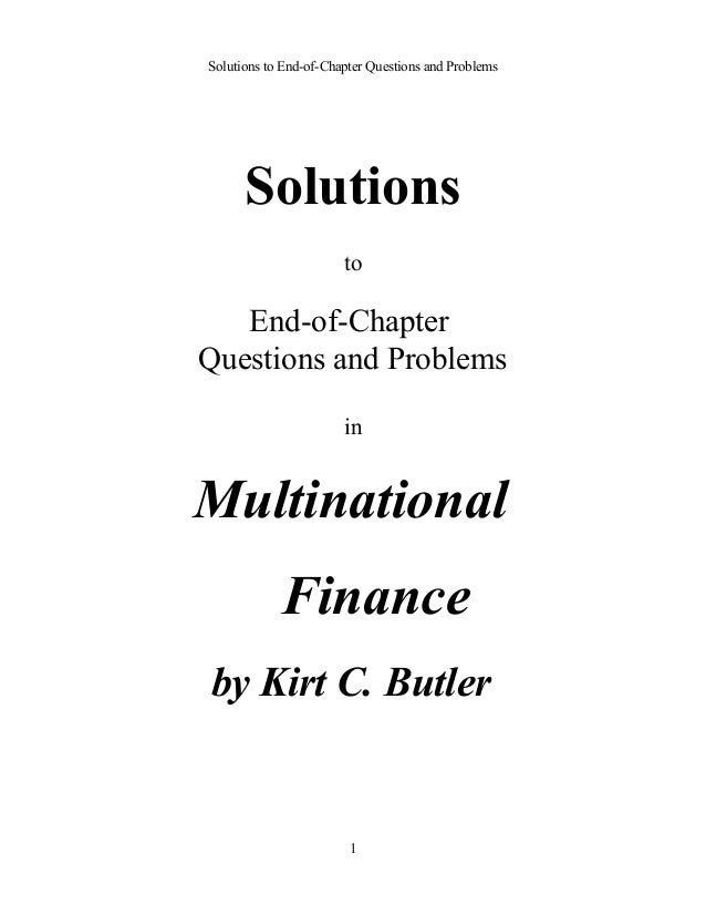 Multinational Finance Solutions