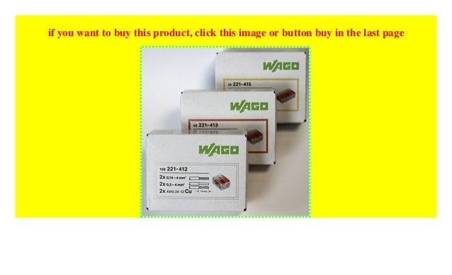 221-413 Wago 221 Klemmen SET 25x 221-412 221-415 Kabel Verbinder Original WAGO