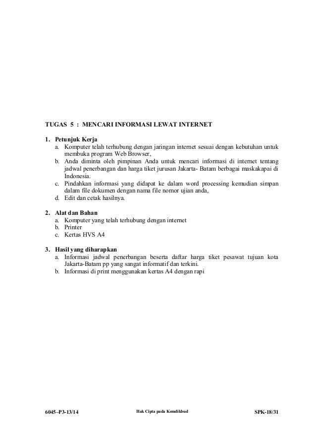 Ruang Belajar Siswa Kelas 8 Soal Unbk Jurusan Administrasi Perkantoran