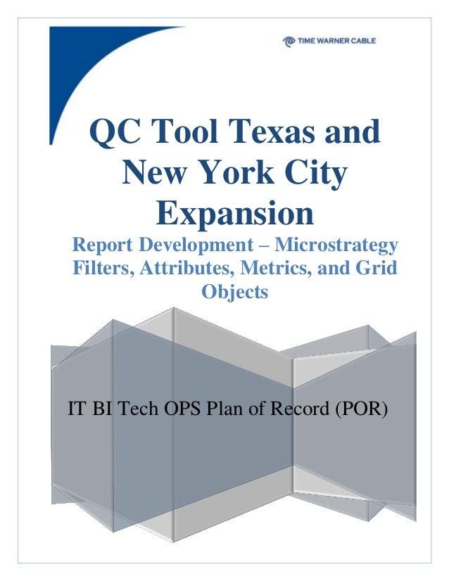 QC Tool Reporting Documentation