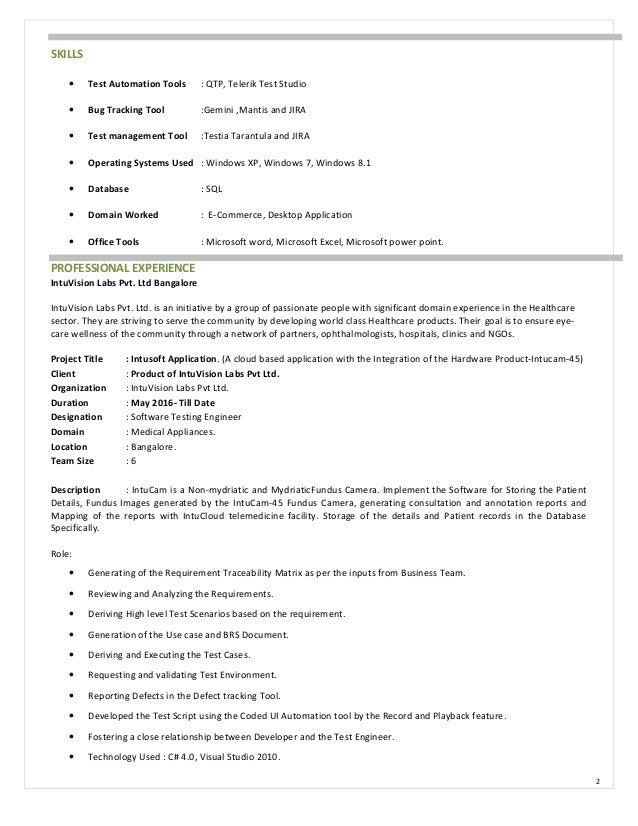 prasanna software testing engineer resume